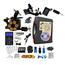 preiswerte professionelle Tattoo-Kits-BaseKey Tätowiermaschine Professionelles Tattoo Kit - 3 pcs Tattoo-Maschinen, Professionell Aleación 20 W LED-Stromversorgung Aufbewahrungshülle inklusive 2 x Drehtattoomaschine für Umrißlinien und