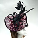 cheap Party Headpieces-Tulle / Feather / Net Headbands / Fascinators / Hats with 1 Wedding / Special Occasion Headpiece