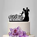 זול תחפושות מהעולם הישן-קישוטים לעוגה נושאי גן / נושא קלאסי זוג קלסי אקרילי חתונה / יוֹם הַשָׁנָה / מסיבת רווקות עם 1 pcs OPP