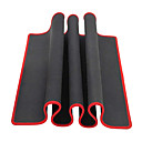cheap Headsets & Headphones-Large Black Red Edge Solid Mouse Pad(30x80x0.2cm)