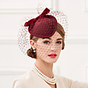cheap Party Headpieces-Wool Net Fascinators Hats Birdcage Veils Headpiece