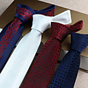 cheap Kitchen Utensils & Gadgets-Men's Party / Work / Basic Polyester Necktie Print / Cute / Silver / White / Red / Blue