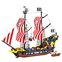 cheap 3D Puzzles-ENLIGHTEN Building Blocks Model Building Kit Pirate Ship Pirates Black Pearl compatible Legoing Toy Gift