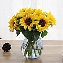 cheap Bracelets-6 Branches Sunflower Artificial Flowers Home Decoration Wedding Supply