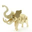 baratos Modelos e kits de modelos-Quebra-Cabeças 3D Quebra-Cabeça Brinquedos de Montar Elefante Animais Faça Você Mesmo De madeira Clássico Crianças Unisexo Brinquedos Dom