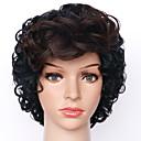 preiswerte Make-up-Pinsel-Sets-Synthetische Perücken Damen Locken Schwarz Synthetische Haare Gefärbte Haarspitzen (Ombré Hair) Schwarz / Braun Perücke Kurz Kappenlos Schwarz