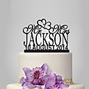 cheap Cake Toppers-Cake Topper Garden Theme / Classic Theme Acrylic Wedding / Anniversary / Bridal Shower with 1 pcs OPP