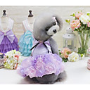 cheap Dog Clothes-Dog Dress Dog Clothes Princess Gray Purple Pink Cotton Costume For Pets Women's Cute Casual/Daily Fashion