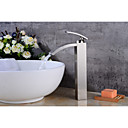 povoljno Slavine za umivaonik-suvremeni centralet vodopadni keramički ventil jednostruka ručka jedan rupa nikal brušeni, kupaonica sudoper slavina slavina za kupanje