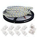 cheap Light Switches-KWB 5m Flexible LED Light Strips 300 LEDs 5050 SMD Warm White / White Cuttable / Dimmable / Linkable 12 V / Suitable for Vehicles / Self-adhesive / IP44