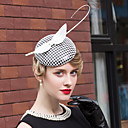 cheap Party Headpieces-Feather Polyester Headpiece-Wedding Special Occasion Casual Office & Career Hats 1 Piece