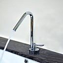 baratos Torneiras de Banheiro-Moderna Conjunto Central Separada Válvula Cerâmica Monocomando e Uma Abertura Cromado, Torneira pia do banheiro