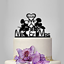 cheap Cake Toppers-Cake Topper Classic Theme / Fairytale Theme Funny & Reluctant Acrylic Wedding / Anniversary / Bridal Shower with OPP