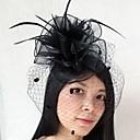 levne Ozdoby do vlasů na večírek-Peří / Síť Fascinátory / Birdcage Veils s 1 Svatební / Zvláštní příležitosti Přílba