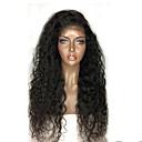 billige Hårtilbehør-Ekte hår Blonde Forside Parykk Krøllet 360 Frontal 180% tetthet 100 % håndknyttet Afroamerikansk parykk Naturlig hårlinje Kort Medium Lang