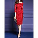 abordables Adhesivos de Pared-Mujer Tallas Grandes Vaina Vestido Un Color