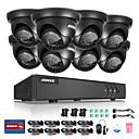 cheap DVR Kits-ANNKE® 8CH 8pcs 1080p 2.0MP DVR HDMI Waterproof Monitor Camera Surveillance System with IR-cut Night Vision