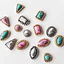 cheap Rhinestone & Decorations-10pcs mixed style mixed colour return to the ancients jewel nail art decoration