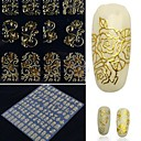 cheap Nail Stickers-108 one sheet golden 3d flower nail art stickers