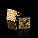 cheap Men's Accessories-Geometric Silver / Golden Cufflinks Copper Pattern / Classic / Gift Boxes & Bags Men's Costume Jewelry For Party / Business / Ceremony /