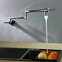 זול ברזים לחדר האמבטיה-ברז מטבח - עכשווי ארט דקו / רטרו מודרני כרום פוט פילר טול / גבוה Arc תקן Spout מותקן על הקיר