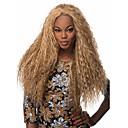 billige Syntetiske parykker uten hette-Syntetiske parykker Dame Krøllet / Afro Blond Syntetisk hår Afroamerikansk parykk Blond Parykk Lang Lokkløs Blond