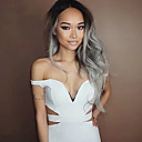 cheap Synthetic Lace Wigs-Synthetic Lace Front Wig Natural Wave Synthetic Hair Dark Roots / Natural Hairline Gray Wig Women's Medium Length / Long Lace Front