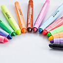 baratos Escrita-pastels Caneta Giz de Cera Caneta Vermelho / Preto / Azul cores de tinta Para material escolar Material de escritório Pacote de  12 pcs