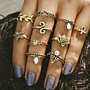 cheap Rings-Women's Ring - Alloy Unique Design, Vintage, Fashion One Size Gold / Silver For Wedding Party Daily / 10pcs