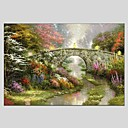 cheap Prints-Oil Painting Hand Painted - Landscape Classic Modern Canvas