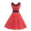 cheap Kigurumi Pajamas-Women's Vintage Cotton Swing Dress - Polka Dot Peplum