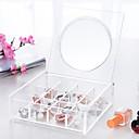 baratos Porta Cosméticos-Acessórios para Maquiagem Armazenamento de Maquilhagem Espelho de Maquilhagem Maquiagem Acrílico Quadrada Diário Cosmético Artigos para Banho & Tosa