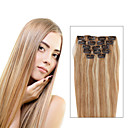 abordables Oxfords para Hombre-Con Clip Extensiones de cabello humano Recto Extensiones Naturales Cabello humano Mujer