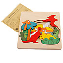 cheap Wooden Puzzles-Muwanzi Jigsaw Puzzle Wooden Puzzle Dinosaur Animals Wooden Cartoon Boys' Girls' Toy Gift