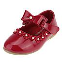 baratos Câmeras para Circuito Fechado-Para Meninas Sapatos Courino Primavera Conforto / Sapatos para Daminhas de Honra Rasos Laço / Pérolas Sintéticas / Apliques para Branco /