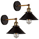 cheap Swing Arm Lights-2 pcs Metal Wall Light Industrial Wall Sconces Vintage Edison Simplicity Lamp For Cafe Club Bar Lighting