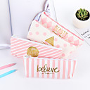cheap Cases & Purses-Pink Stripe Stationery Bag 1 PCS