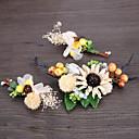 billige Smykkesett-Kurvevarer / Linfrø / Strass pannebånd / blomster / Hårnål med 1 Bryllup / Spesiell Leilighet / Avslappet Hodeplagg
