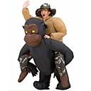 رخيصةأون الرجال والنساء هالوين ازياء-شيمبانزي قرد أزياء Cosplay أدوات هالوين حفلة تنكرية Film Cosplay أسود المزيد من الاكسسوارات Halloween مهرجان عيد الأطفال البوليستر