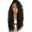cheap Human Hair Wigs-Virgin Human Hair Glueless Lace Front Wig Brazilian Hair Curly Wig 130% 8-24 inch With Baby Hair / Natural Hairline / For Black Women Natural Black Women's Short / Medium Length / Long Human Hair
