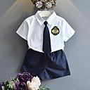 tanie Zestawy ubrań dla dziewczynek-Brzdąc Dla chłopców Casual Szkoła Patchwork Krótki rękaw Komplet odzieży