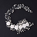 cheap Ballroom Dance Wear-Tulle Tiaras / Hair Combs / Flowers with Feather 1 Event / Party Headpiece
