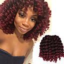 cheap Hair Braids-8inch 20roots pack synthetic crochet ombre braiding jumpy wand curl braids hair jamaican bounce twist african hair extension kanekalon