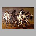 tanie Obrazy: motyw zwierzęcy-Hang-Malowane obraz olejny Ręcznie malowane - Zwierzęta Streszczenie Modern / Contemporary Brezentowy