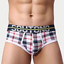 halpa Miesten alusvaatteet ja sukat-Miesten Super Sexy Kalsarit - Skottiruutukuvio, Painettu 1 Kappale