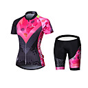 cheap Cycling Jersey & Shorts / Pants Sets-Malciklo Women's Long Sleeves Cycling Jersey with Shorts - Black British Geometic Bike Padded Shorts / Chamois Tights Jersey Clothing