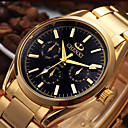 cheap Dress Watches-CHENXI® Men's Wrist Watch Japanese Calendar / date / day / Cool Stainless Steel Band Casual / Fashion Gold / Two Years / Maxell SR626SW