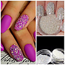 cheap Wall Stickers-3g nail art decoration glitter crystal glass caviar beads tiny 3d micro pixie mermaid nails art hot nail decorations