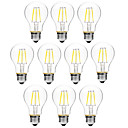 cheap LED Filament Bulbs-BRELONG® 10pcs 6W 450lm E27 LED Filament Bulbs A60(A19) 6 LED Beads COB Dimmable Warm White White 200-240V