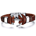 cheap Men's Bracelets-Men's Leather Bracelet - Leather Friends, Anchor Rock, Fashion, Hip-Hop Bracelet Brown For Christmas Gifts / Birthday / Gift